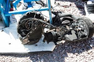 Hoverboarden började brinna mitt i natten när den stod på laddning i huset i Skutskär.