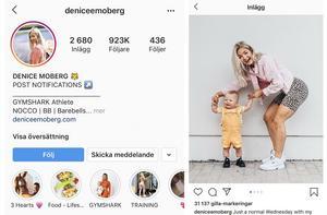 Denice Moberg är en av de största träningsbloggarna i Sverige och har över 920 000 följare.