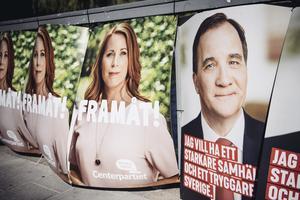 Motståndare i valrörelsen, kan Annie Lööf (C) och Stefan Löfven nu göra upp?  Foto: TT