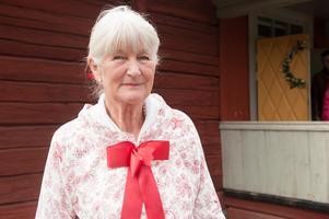 Lotta Örtendahl är ordförande i Vika- Hosjö hembygdsförening, som har varit med och finansierat restaureringen.