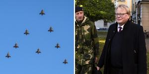 Peter Hultqvist (S), försvarsminister, menar att den kommande upprustningen av luftförsvaret är den största i Sverige sedan 1950-tal.