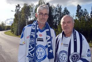 Bernt Lindgren och Roger Magnusson valde att göra verklighet av vadslagningen när det är hemmamatch en vardag.