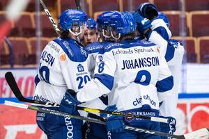 Leksand fick jubla flera gånger om i 4–0-segern mot Vita Hästen. Foto: Daniel Eriksson/Bildbyrån (arkiv)