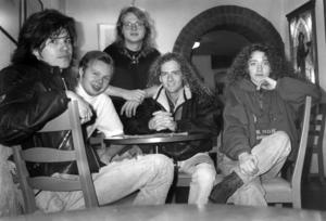 Freeze. Från vänster Janne Lidén, Patrik Zackrisson, Ulrik Arturén, Anders Erlandsson och Lena Ljung. Foto: ÖP:s arkiv