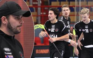 Kevin Borg, Rasmus Bergström och Linus Mild levererade i seriefinalen mot Lockerud Mariestad. Tränaren John Kvist på den infällda bilden.