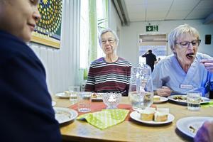 Elsie Hornling var nöjd med dagens lunch liksom Ann-Christin Andersson.