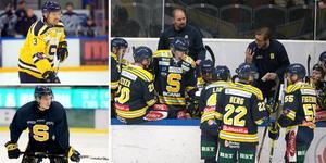 Marcus Oskarsson och Filip Pilö får lite speltid just nu när konkurrensen hårdnat i SSK. Foto: Mittmedia