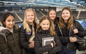 Dilan Aziz, Nelli Stattin, Emilia Jonsson, Selma Tiger och Elin Casselstål var några av de många elever från Prolympia som kom till Gavlehov för att lyssna på Jonathan Hedströms berättelse.