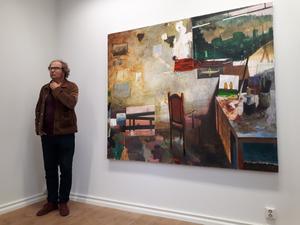 Bo Ljung berättar om sin målning