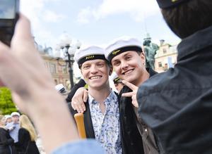 William Jonsson och Carl Eriksson i NA3 B på Skvaderns gymnasieskola har framtiden utstakad.