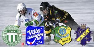 VSK, Villa, Skutskär och AIK LIVE på Bandypuls, VLT, Gefle Dagblad och Arbetarbladet från semifinal 2. FOTO: TT