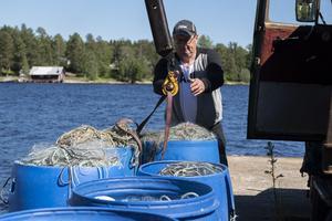 I 18 år har Mika Paskinen innehaft sin yrkesfiskarlicens. Han säljer sin fångst till salterier, affärer och restauranger.