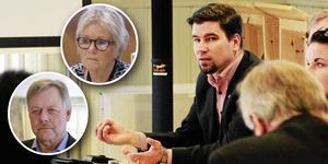Yvonne Oscarsson (V) och Sören Görgård (C) ifrågasätter nu kommunalrådets bjudresa.