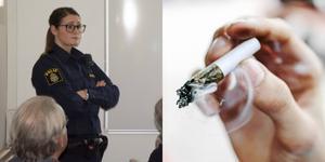 Ida Zetterlund berättade om problematiken med narkotika bland ungdomar.