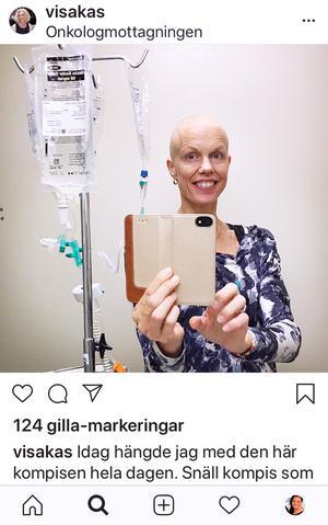 Juni 2018 - Cellgiftsbehandlingen är i full gång för att bekämpa cancern.