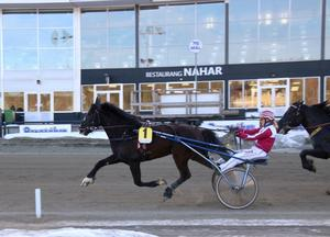 Alf Jonssons Tekno Jerven tar karriärens första seger tillsammans med Anna-Carin Jonsson. Foto: Mats Persson