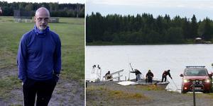 Kent-Ove Ulander, ordförande i Sundsvalls fallskärmsklubb. Bild: Håkan Humla/Samuel Pettersson, TT.
