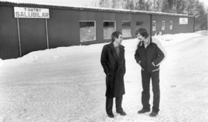 Tord Gatby och Peter Ericsson när väl den nya lokalen var på plats i januari 1981. Foto: Arkiv