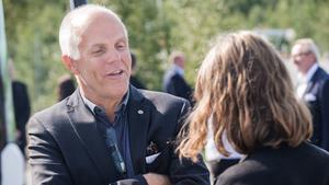 Björn Westman, ansvarig för drivlineutveckling på Scania, under torsdagens pressträff. Foto: Linus Chen Magnusson