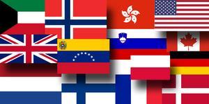 NP har listat företag från från 14 länder som verkar i Nynäshamn.