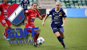 Paulina Byström (till höger) är en intressant spelare för Kvarnsvedens IK.