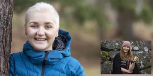 Molly Myrestaf kämpade mot cancern. Hon fick hjälp av vännen Victoria Bertilsson (infälld). Foto: Liza Simonsson/Greta Malm