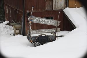 Namnet Roosengård har uppkommit efter grannen Roos som växte upp i huset.