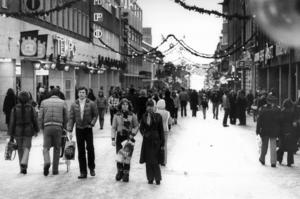 Den klassiska vyn nerför Prästgatan. Året var 1978. Fotograf: ÖP arkiv