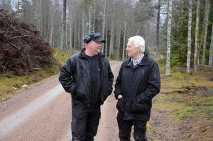Per Morberg och Stig Linderholm i samtal om den maskin som de på olika sätt medverkat för att skapa.