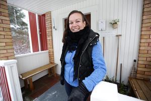 Lina bor i det hus  hennes pappa växte upp i.
