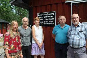 Framtidsgruppen. Jane Svensson, Lasse Wilhelmsson, Britt-Inger Nyberg, Claes Cederqvist och Göran Wahlberg.