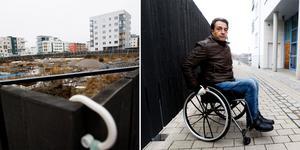 Kommunens plank på Gävle strand gör att rullstolsburna Senol Güzel blir instängd i sitt hem.