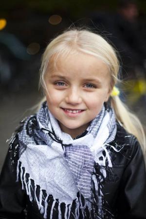 Tilde Jansson, 7 år, student, Hedesunda:– Ja, jag ska klä ut mig till vampyr eller en mumie.
