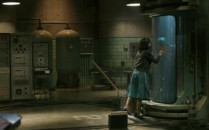 En känsloladdad scen från filmen The shape of water.
