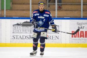 Alexander Kovalonok, gjorde fyra poäng mot Lindlöven och är nu två i poängligan för hockeyettan västra.