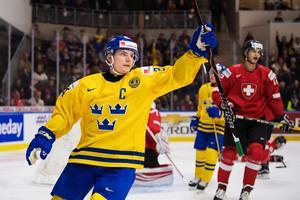 Lias Andersson tvingades utgå i mötet med Ryssland och är osäkert startande mot Slovakien i VM-kvartsfinalen.Bild: Joel Marklund/Bildbyrån