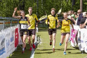 När Stora Tuna tog SM-guld i sprintstafett var Tilda Östberg med i laget, det är en av de saker som hon är stoltast över att ha åstadkommit.  Foto: Svenska orienteringsförbundet