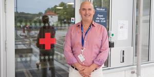 Christophe Pedroletti, vd på Södertälje sjukhus.