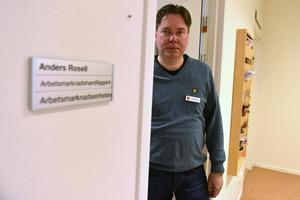 Anders Rosell är Arbetsmarknadshandläggare på Arbetsmarknadsenheten. Ett av hans många uppdrag är att sätta kommunens unga i arbete.