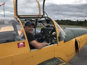 Thomas Nordgren var en av de mycket nöjda piloterna som fick möjlighet att tumla runt i luften.