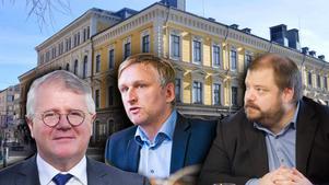 Både Anders Jansson, M, och Jörgen Edsvik, S, vill vara med och styra Gävle. Richard Carlsson, SD, tycker att de borde prata med honom.
