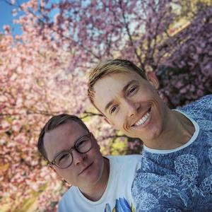 Vännerna Jesper Petersson (till vänster) och Tobias Ström är upphovet till kampanjen