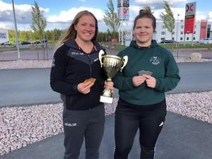 Båda deltagande Borlängetjejerna tog medalj i USM. Foto: Läsarbild