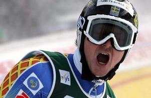 Fredrik Nyberg från Sundsvall låg trea efter första åket men slutade femma.