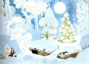 Vinter i Mumindalen.
