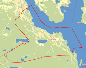Valdistrikt Väja-Dynäs, Kramfors 2014. Andra höga S-siffror i Ångermanland finns i Graninge och Bjästa. I Medelpad toppar Vivsta i Timrå. Karta: Valmyndigheten