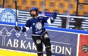 Att få se Wilma Johansson fira mål är en vanlig syn.