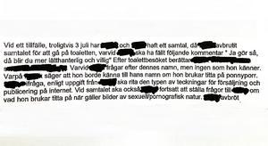 Mannens sexprat ledde till en varning och en omplacering, men han jobbar fortfarande med ungdomar. Bild: Skärmdump