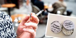 Förbudet har lett till fler fimpar på marken. Foto: Magnus Andersson/TT och Maria Björkman