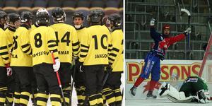 AIK-truppen har förändrats under januari och Camilla Johansson som på bilden nätar för Kareby i SM-finalen 2017 gör nu comeback, men i Sunvära SK. Foto: Martin Löf Nyqvist och Sören Andersson/TT